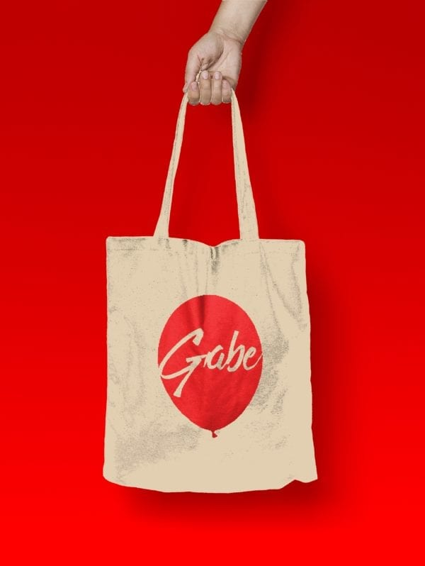 Gabe's Red Balloon Foundation - White tote bag - front